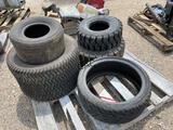 5pc Forklift Tires with rims