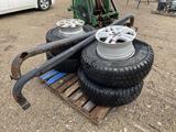 4pc Tires w/Rims, 2pc Rims, Truck Side Steps