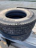 4pc Michelin 11R22.5 Virgin Rubber Tires