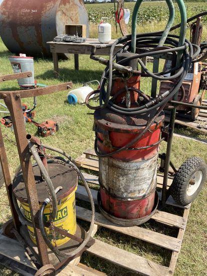 2pc Oil Barrels w/Barrel Pumps