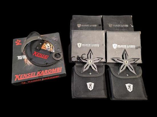Lot of Throwing Stars and Karombit Knife