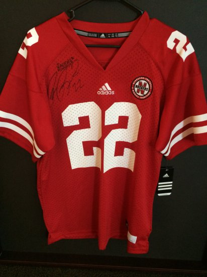22 Huskers Jersey Autographed by Rex Burkhead & Jack Hoffman ...
