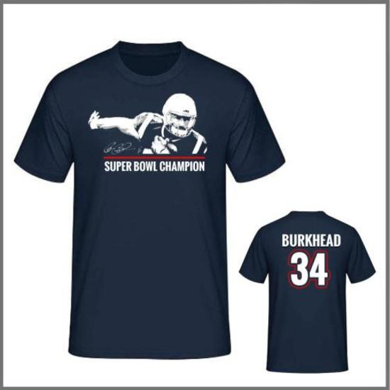 Autographed Rex Burkhead Super Bowl Champion T-shirt