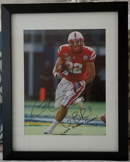 Rex Burkhead Signed Last Nebraska Bowl Game Framed Photo 11x14
