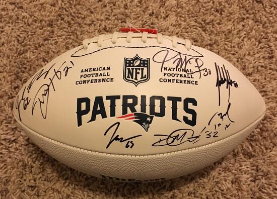 New England Patriots 2019 Team Autographed Football