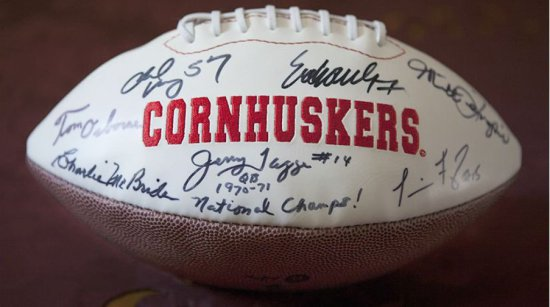 """Nebraska Football Autographed by Guests Appearing in Documentary """"Through these Gates"""""""
