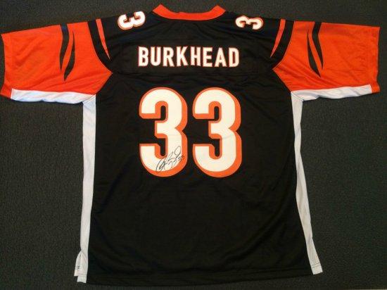 Autographed Rex Burkhead Black Bengals Jersey