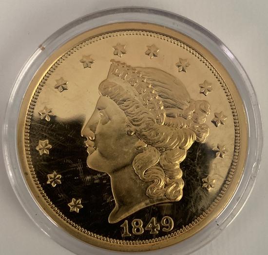 1849  $20 gold piece