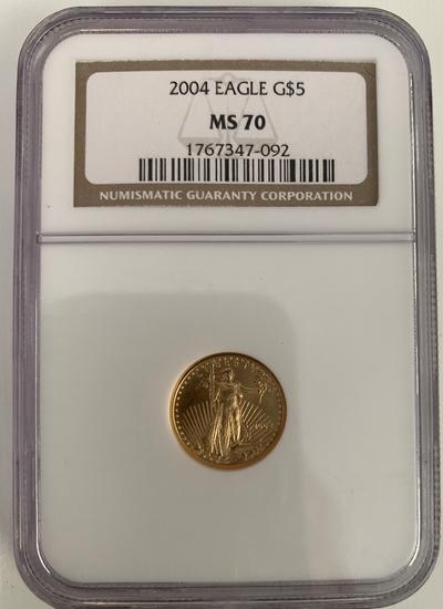 2004  $5 Golden Eagle gold piece