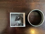 metal ring with picture of Luftwaffe Pilot
