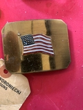 American 48 states flag brass belt buckle