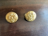 2 American brass uniform buttons