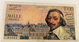 1000 Francs French banknote