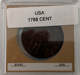 1788  Replica of Massachusetts one cent