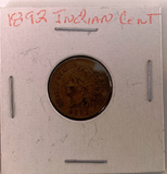 1892  Indian Head cent piece