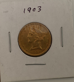 1903  Liberty Head $5 gold piece