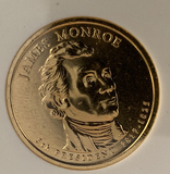 2008  James Monroe gold enriched dollar