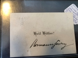 Herman Goering signature on calling card