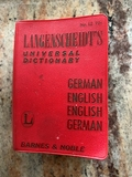 Book - German English  Pocket Dictionary