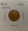 1851  $2.50 Liberty gold piece