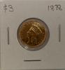 1878  Liberty Head $3 gold piece