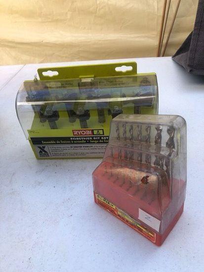 Ryobi Forstner Bit set and misc drill bits