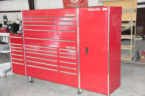 REMLINE 28 TRAY TOOL CHEST WITH CABINET AND TOOLS