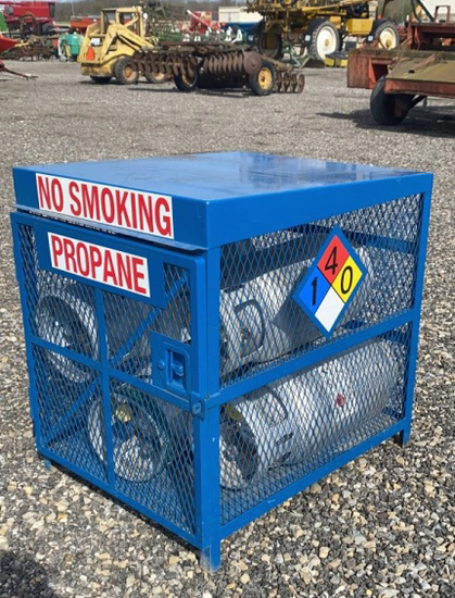 Cage & LP Cylinders for Propane Mowers