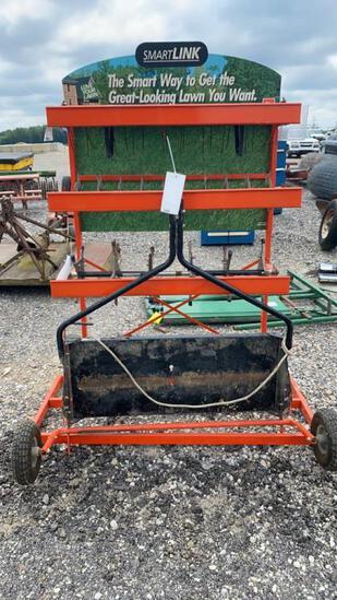 Lawn Aerator w/Storage Stand