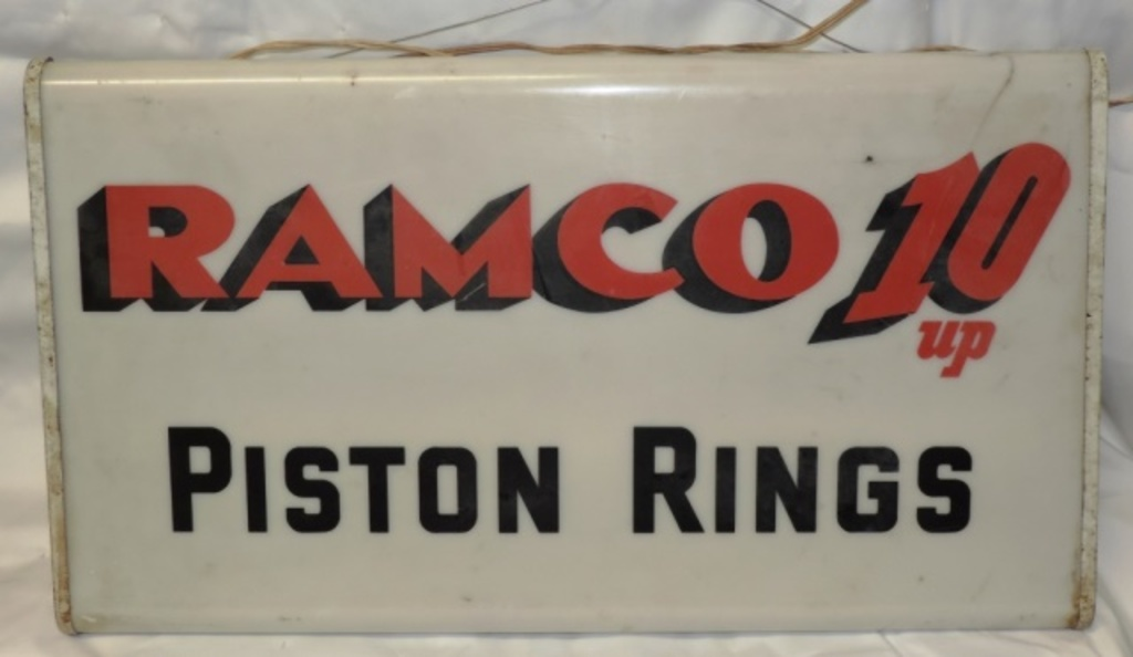 Lot: Ramco 10 Up Piston Rings Light Up Sign | Proxibid Auctions