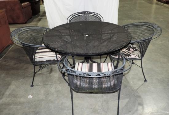 Black Wrought Iron Patio Set