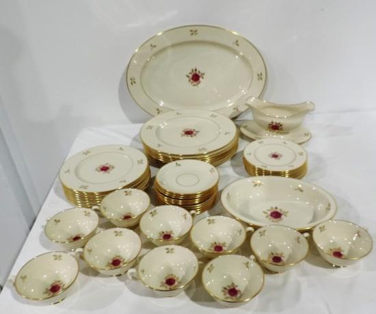 (48) Piece Set of Lenox Rhodora China