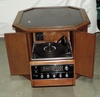 Octagon Shaped Side Table With Magnavox Stereo Inside