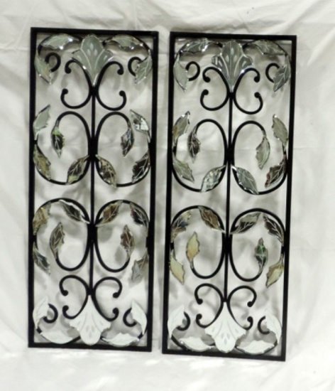 Decorative Glass And Metal Wall Plaques