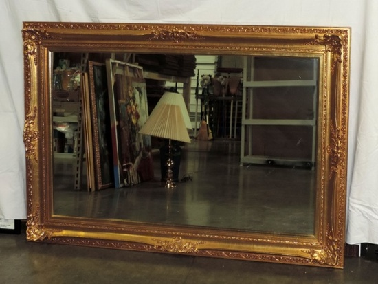 Ornate Gold Finished Over-mantel Mirror