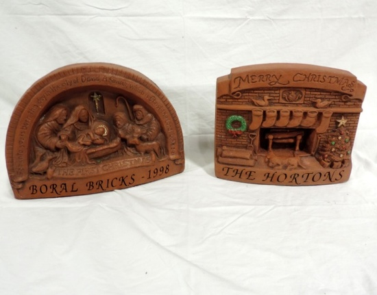 2 Boral Bricks Christmas Theme Collectibles