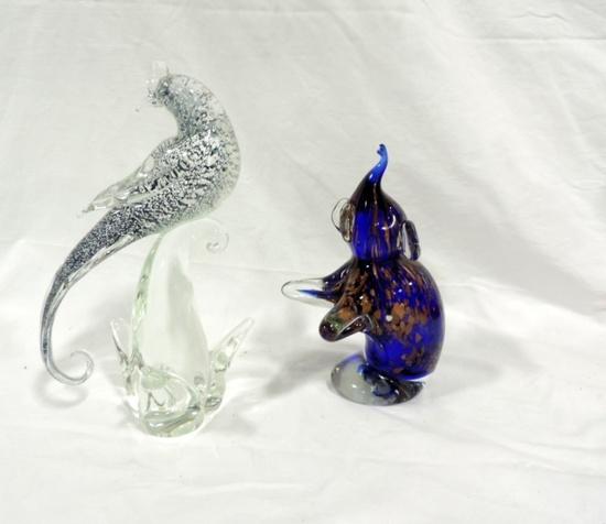 2 Murano Art Glass Figurines