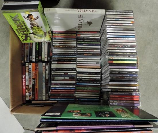 Large Cd Dvd Tape Lot