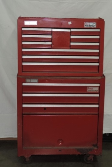 2 Piece Metal Craftsman Tool Chest