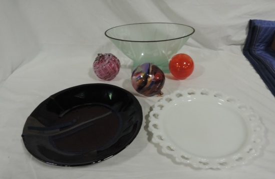 (6) Decorative Glass And Hand Blown Glass Bulb Lot