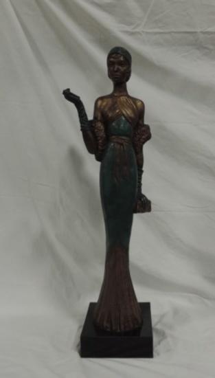 1984 Tall Austin Products Inc. Deco Flapper Woman Sculpture