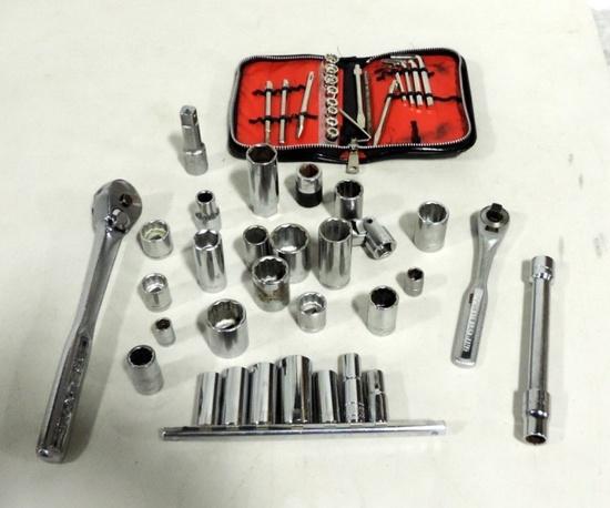 Tray Lot Craftsman Socket Set