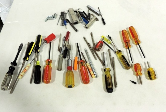 Tray Lot Craftsman & Stanley Screwdrivers