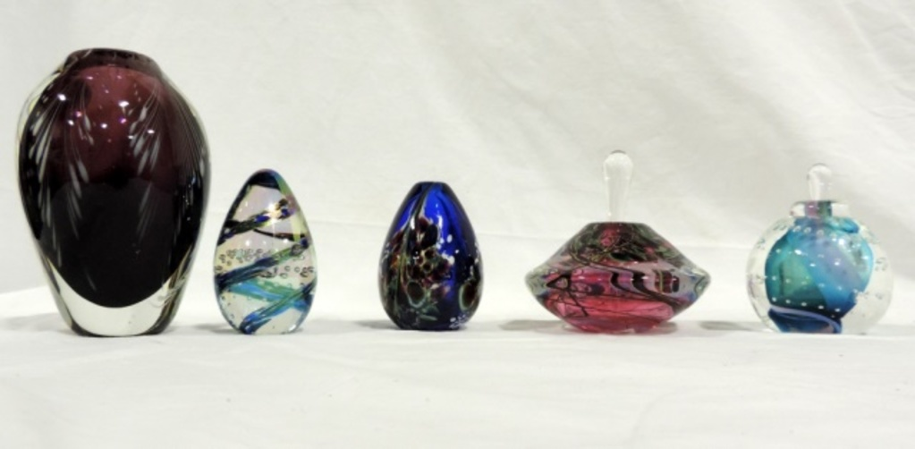 5 Piece Art Glass Lot