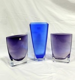 3 Piece Poland Art Glass Lot