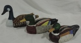 (3) Hand Painted Duck Decoys