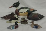 (7) Piece Lot Hand Painted Duck Decoys
