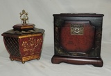 (2) Decorative Table Top Boxes