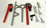 Tray Lot Pipe Wrenches