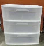 3 Drawer Plastic Storage Box
